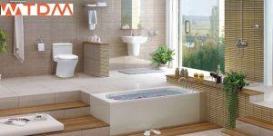 Phòng tắm có bồn cầu INAX