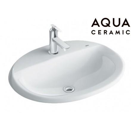 Chậu Rửa Lavabo Inax AL-2395V Dương Vành Aqua Ceramic